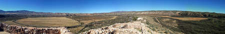 View from ruins in Tuzigoot National Monument in Arizona Stock Photo