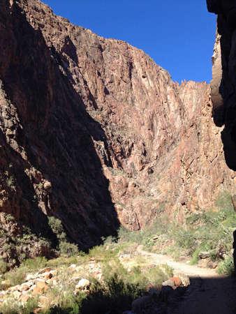 kaibab trail: North Kaibab Trail in Grand Canyon, Arizona Stock Photo