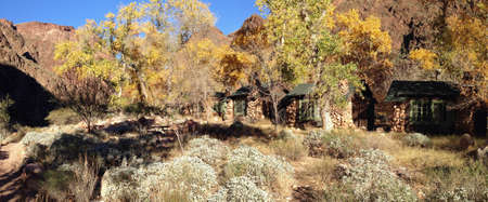 Falls colors at Phantom Ranch in Grand Canyon, Arizona photo