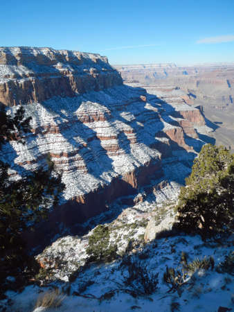 south kaibab trail: Upper South Kaibab Trail in Grand Canyon, Arizona Stock Photo