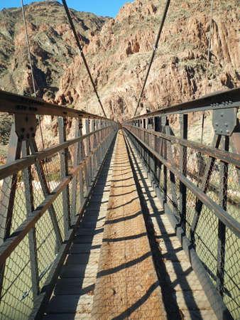 On Black Bridge in Grand Canyon, Arizona