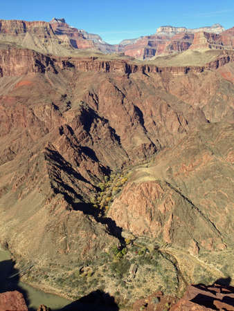 kaibab trail: Bright Angel Canyon from South Kaibab Trail in Grand Canyon, Arizona Stock Photo
