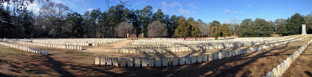 Cemetery at Andersonville National Historic Site in Georgia Editorial