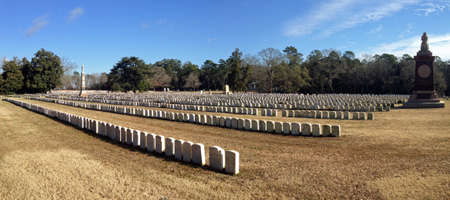 national historic site: National cemetery at Andersonville National Historic Site in Georgia Editorial