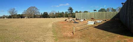 Rebuilt prison in Andersonville National Historic Site in Georgia