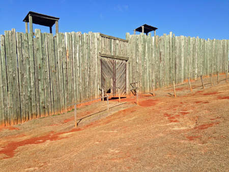 Reconstructed gate in Andersonville National Historic Site in Georgia