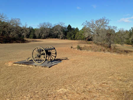 Cannons in Andersonville National Historic Site in Georgia