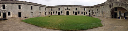 marcos: In the middle of Castillo de San Marcos in St  Augustine, Florida