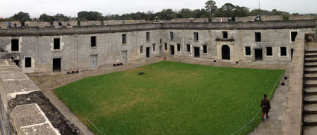 marcos: Center of Castillo de San Marcos in St  Augustine, Florida