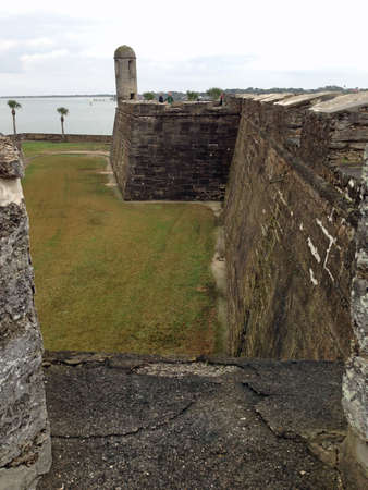 augustine: View from Castillo de San Marcos in St  Augustine, Florida