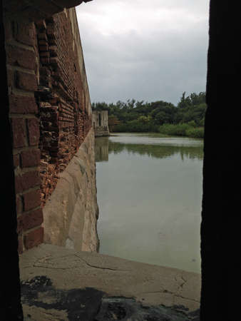 Walls of Fort Zachary Taylor in Florida