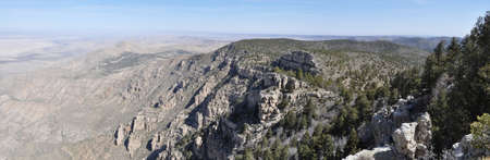 View north from Bush Mountain in Guadalupe Mountains National Park, Texas photo