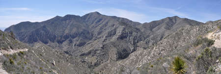 Guadalupe and Shumard peaks in Guadalupe Mountains National Park, Texas photo