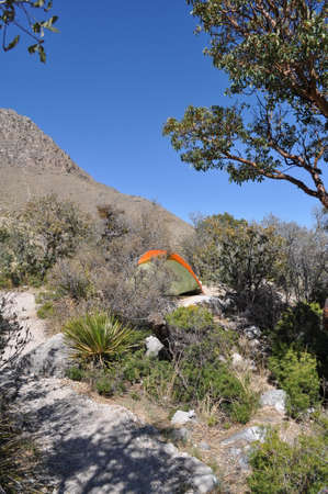 Campground in Guadalupe Mountains National Park, Texas photo