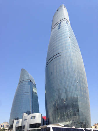 Flame Towers in Baku, Azerbaijan Editorial