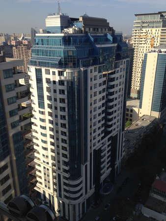 Gebouwen in Bakoe, Azerbeidzjan, gezien vanuit het Marriott