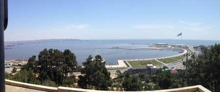 martyr: Caspian Sea from Martyr s Lane in Baku, Azerbaijan