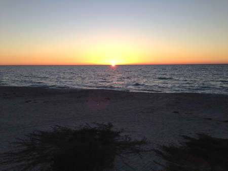 gulf of mexico: Sunset over the Gulf of Mexico from Boca Grande, Florida Stock Photo