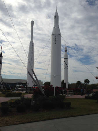 Kennedy: Rocket garden at Kennedy Space Center.