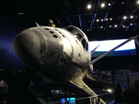 cape canaveral: Space Shuttle Atlantis at Kennedy Space Center. Editorial