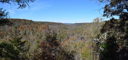 cane creek: Cane Creek Canyon Alabama from the Point Stock Photo
