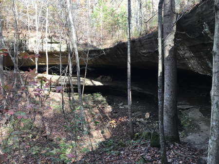 cane creek: Dry waterfall in Cane Creek Canyon Alabama
