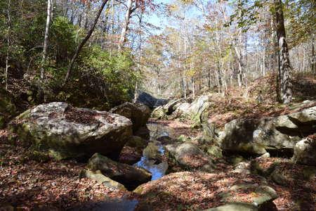 cane creek: Rocks in Cane Creek Alabama Stock Photo