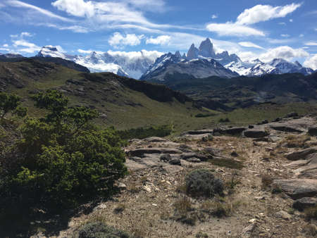 fitz roy: View of Fitz Roy in Argentina Stock Photo
