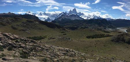 los glaciares: Fitz Roy viewpoint in Argentina Stock Photo