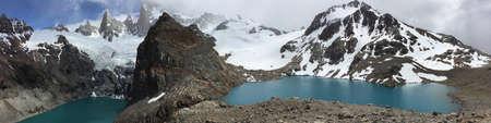 fitz: Lakes below Fitz Roy in Argentina