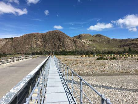 chalten: Bridge in El Chalten, Argentina