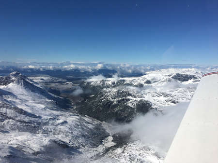 fuego: Mountains of Tierra del Fuego from an airplane
