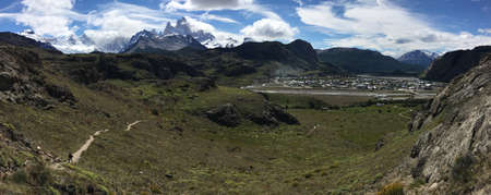 chalten: Panorama of El Chalten, Argentina