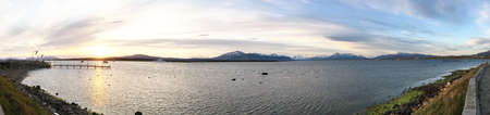 puerto natales: Sunset in Puerto Natales, Chile
