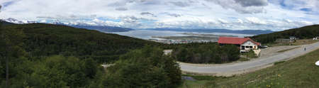 Looking over Ushuaia, Argentina Stockfoto
