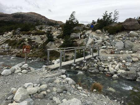 los glaciares: Footbridge in Los Glaciares National Park, Argentina