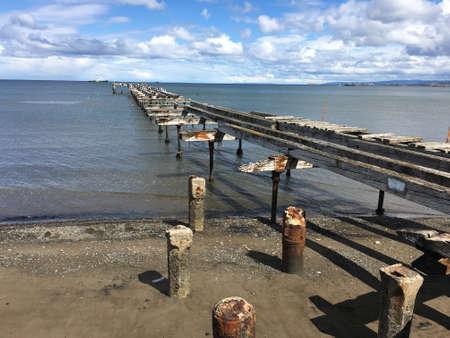 punta arenas: Old pier in Punta Arenas, Chile