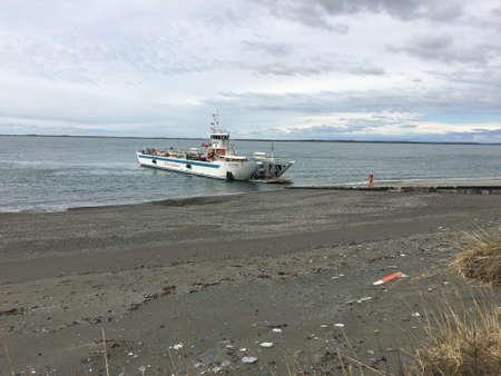 strait of magellan: Strait of Magellan ferry in Chile
