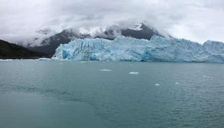 argentino: Perito Moreno Glacier and Argentino Lake in Argentina Stock Photo