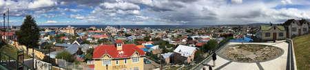 punta arenas: Panorama over Punta Arenas, Chile Editorial