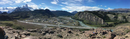 chalten: View over El Chalten, Argentina Stock Photo