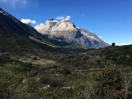 Cuernos del Paine in Chile Stock Photo