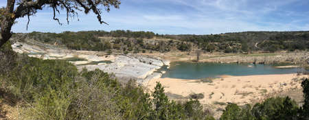 View of Pedernales Falls in Texas