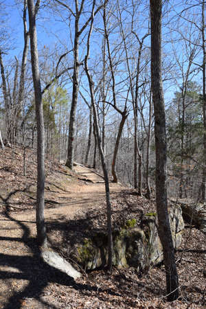 Hiking Trail in Tishomingo State Park Mississippi Stock Photo