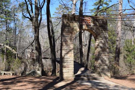 Suspension Bridge in Tishomingo State Park, Mississippi
