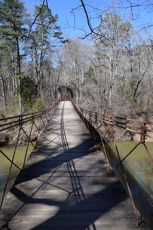 Swinging Bridge in Tishomingo State Park, Mississippi