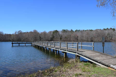 Fishing pier in Wall Doxey State Park, Mississippi