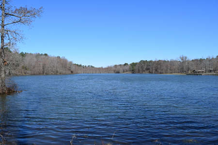 Spring Lake in Wall Doxey State Park, Mississippi Stock Photo