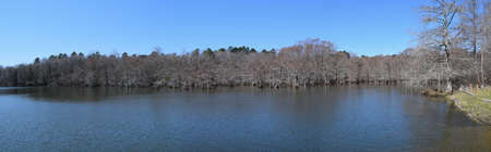Lake and cypress swamp in Wall Doxey State Park, Mississippi Stock Photo