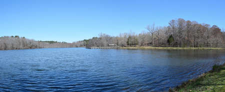 Lake panorama in Wall Doxey State Park, Mississippi